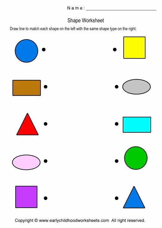 Matching Shapes Worksheets for Preschoolers Awesome Matching Shapes Worksheet Worksheet 1