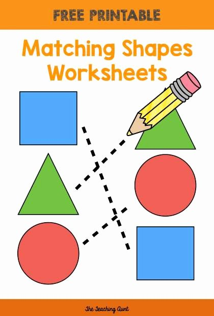 Matching Shapes Worksheets for Preschoolers Best Of Matching Shapes Worksheets the Teaching Aunt