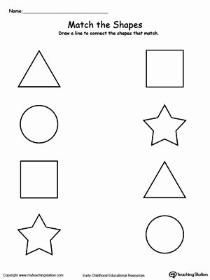 Matching Worksheets for Preschoolers Best Of Match the Shapes