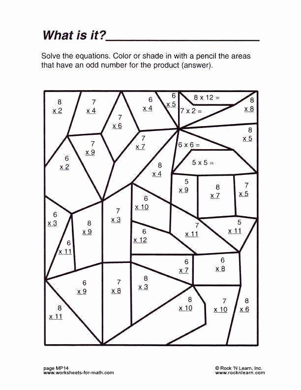 Math Printable Worksheets for Preschoolers top Multiplication Coloring Printable Middle School Math