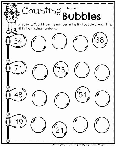 Math Printable Worksheets for Preschoolers Unique Kindergarten Worksheets for May Planning Playtime