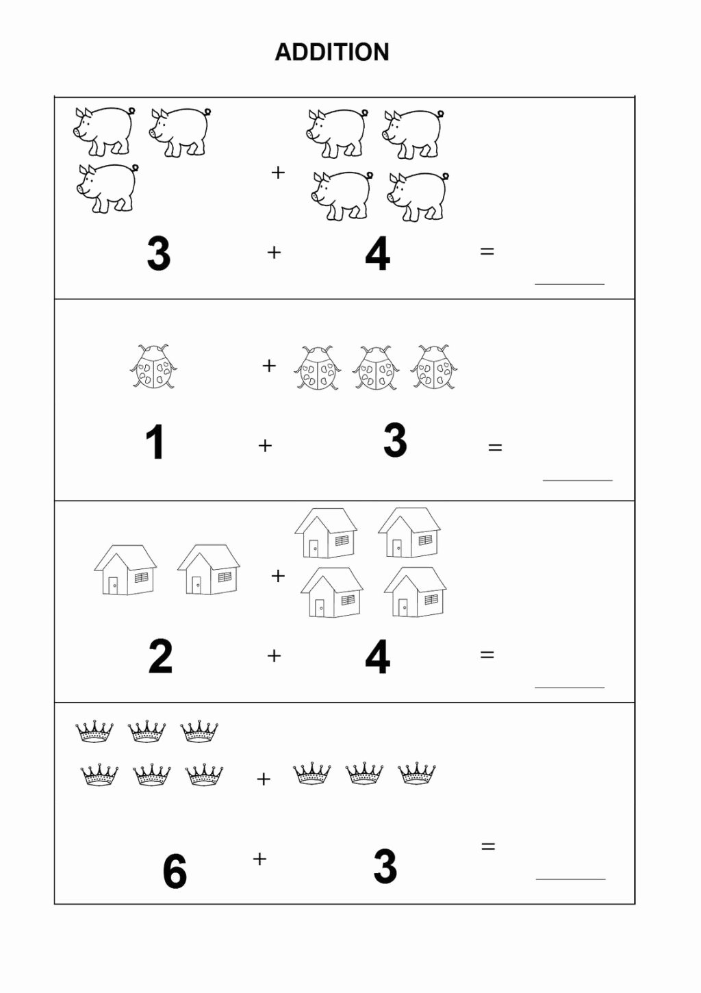 Math Worksheets for Preschoolers Addition top Worksheet Worksheet Kindergarten Math Worksheets to