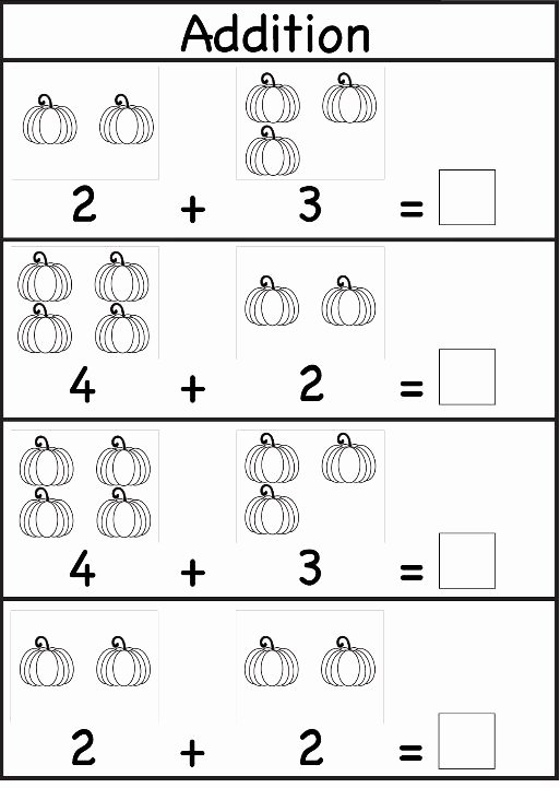 Math Worksheets for Preschoolers Addition Unique Addition Worksheet for Preschool and Kindergarten