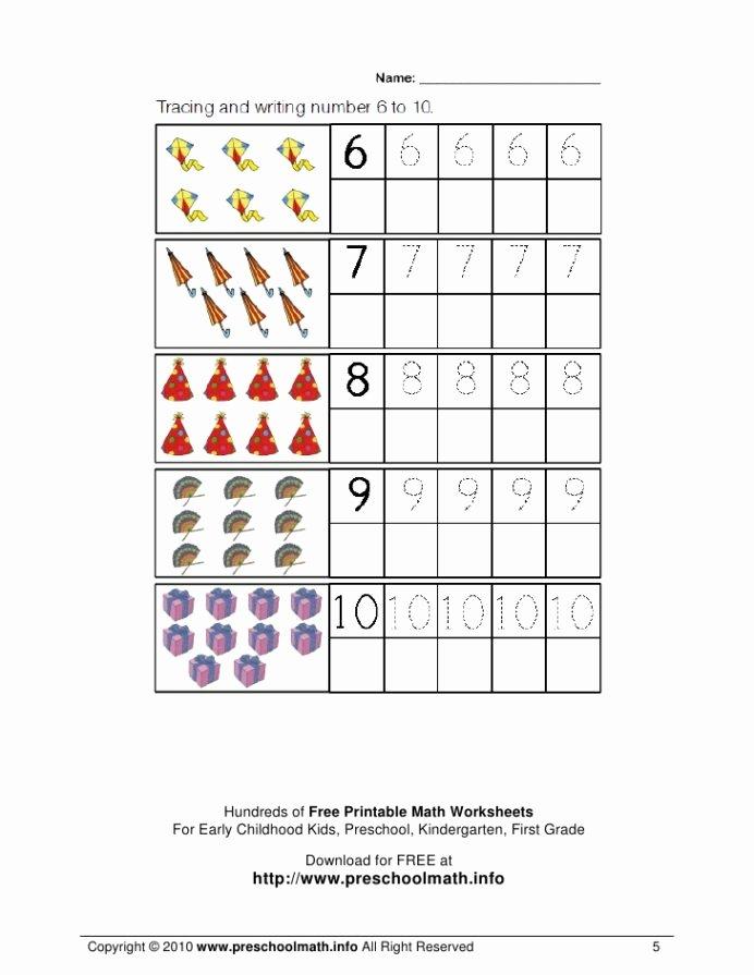 Math Worksheets for Preschoolers Inspirational Math Worksheets for Kindergarten and Preschool Learning
