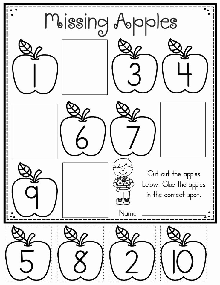 Math Worksheets for Preschoolers Printables Best Of Apple Printables for Kindergarten