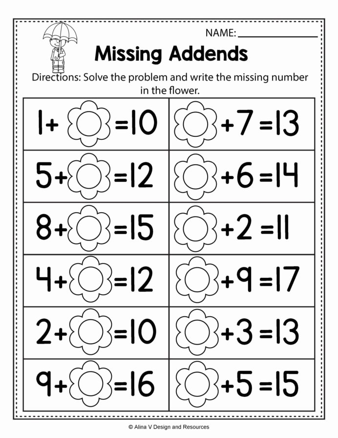 Mathematics Worksheets for Preschoolers Lovely Spring Math Worksheets for Preschoolers Worksheet Learn