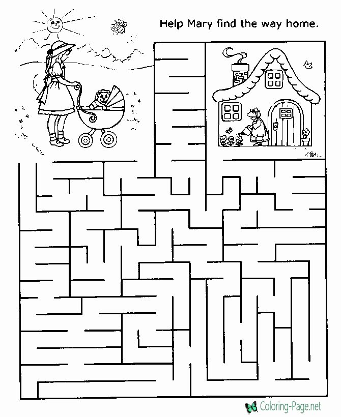Maze Worksheets for Preschoolers Fresh Printable Mazes