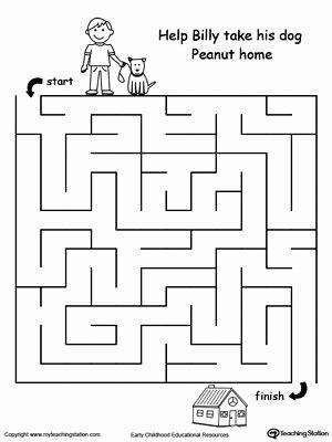Maze Worksheets for Preschoolers New Panda Maze