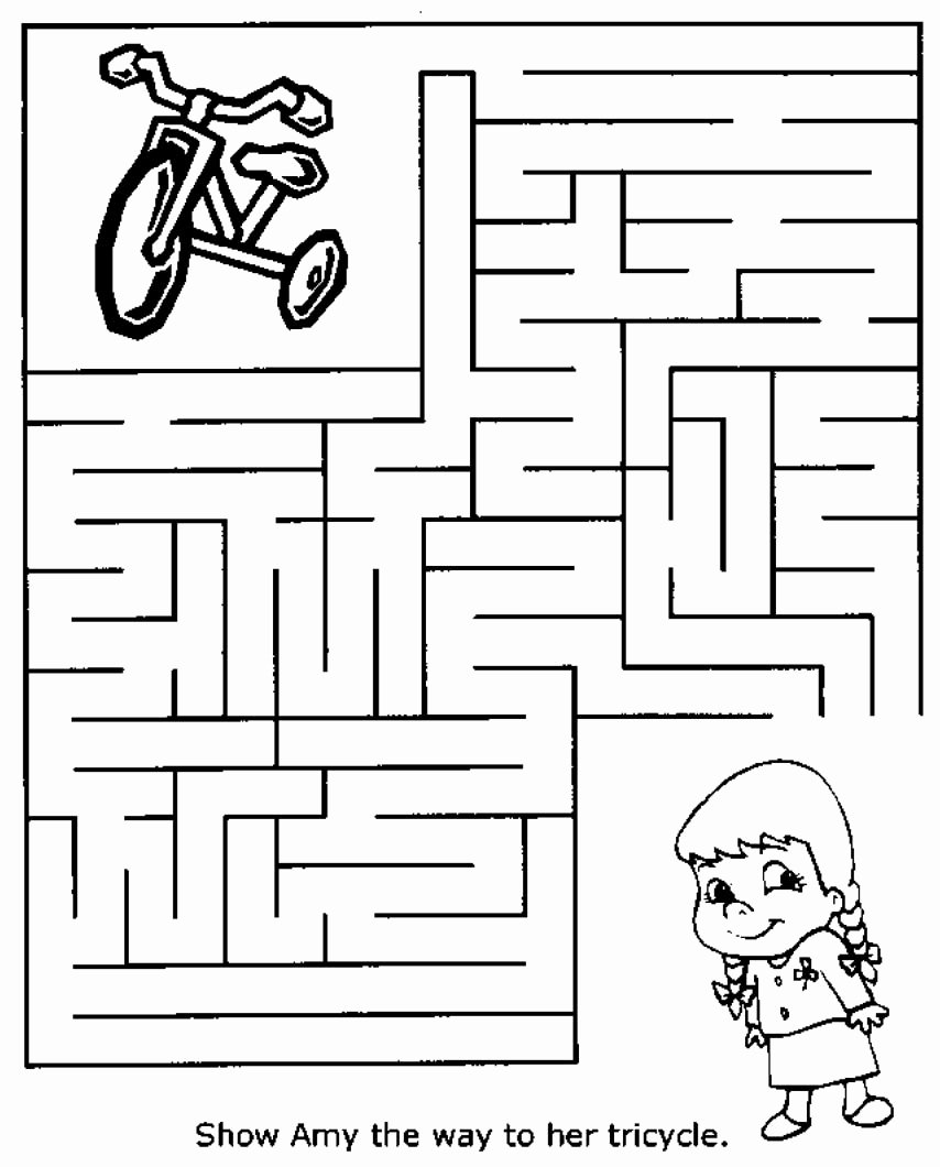 Maze Worksheets for Preschoolers top Free Printable Mazes for Kids