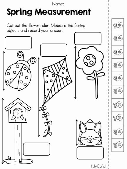 Measuring Worksheets for Preschoolers Beautiful Spring Kindergarten Math Worksheets Mon Core Aligned