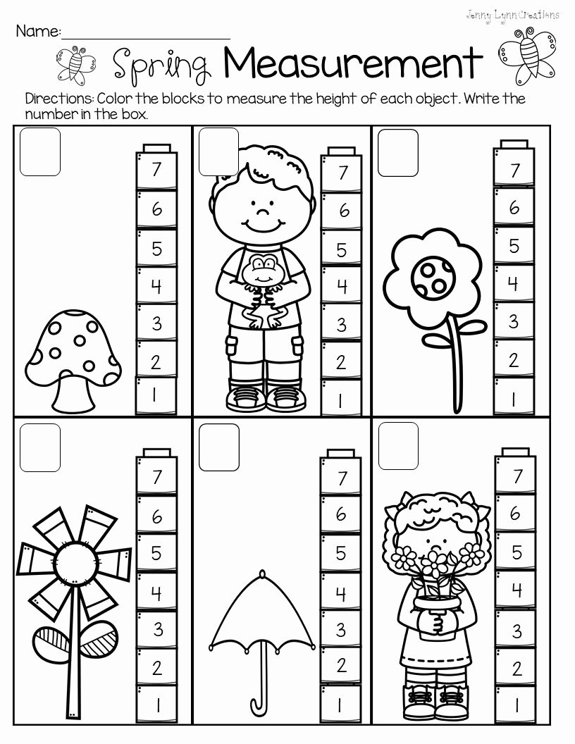 Measuring Worksheets for Preschoolers Unique Pin On Measuring