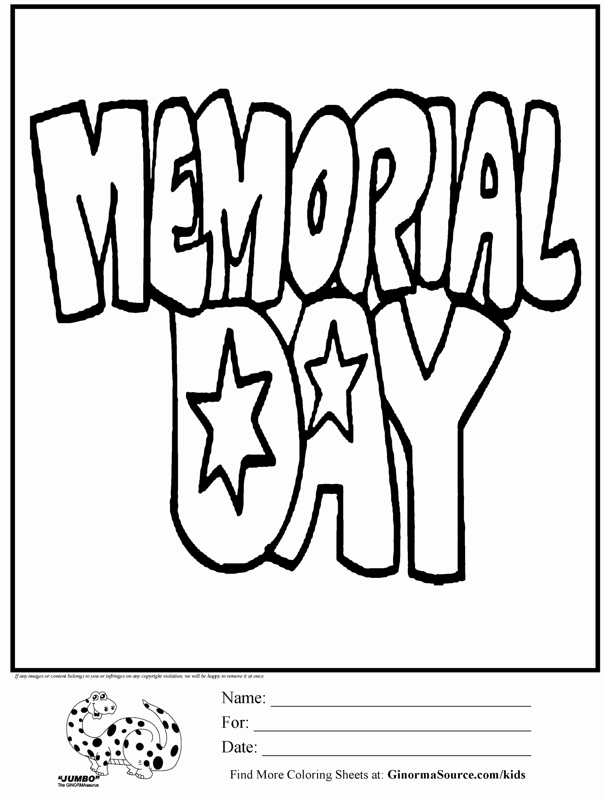 Memorial Day Worksheets for Preschoolers Lovely Memorial Coloring Printable at Getdrawings Free Worksheets