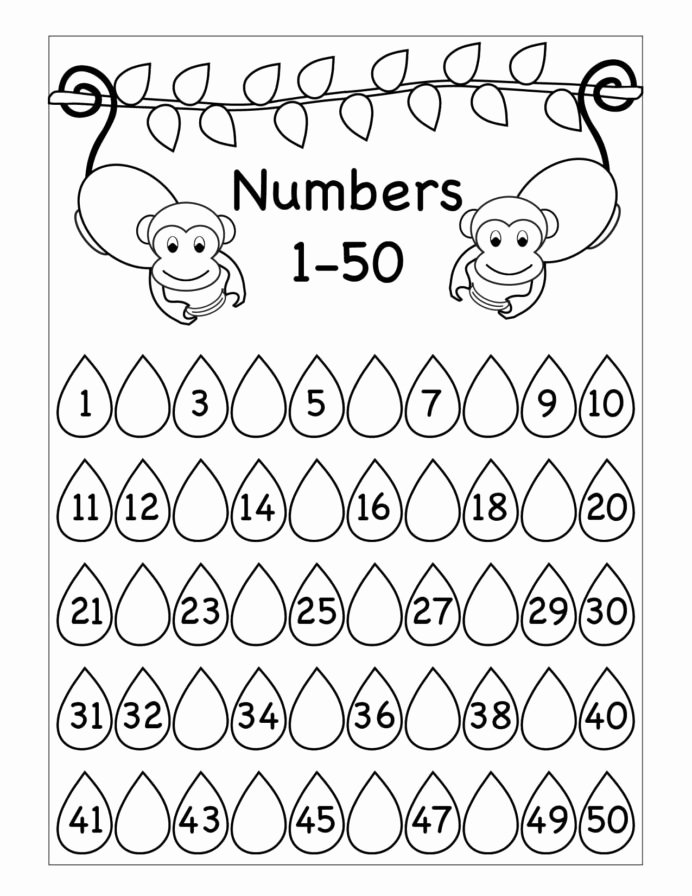 Monkey Worksheets for Preschoolers Awesome Missing Numbers Worksheet Printable Worksheets and Tracing