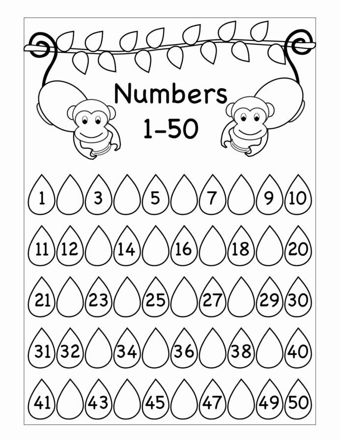 Monkey Worksheets for Preschoolers Awesome Missing Numbers Worksheet Printable Worksheets and Tracing