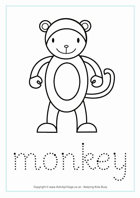 Monkey Worksheets for Preschoolers Fresh Monkey Tracing Worksheet