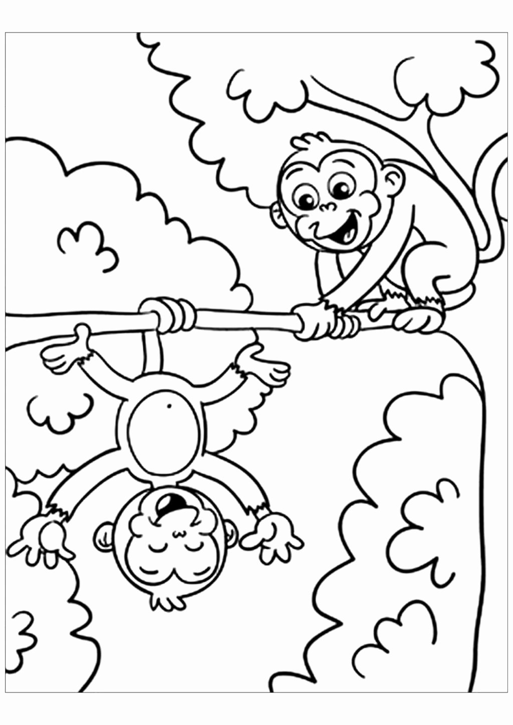 Monkey Worksheets for Preschoolers Inspirational Worksheet Coloring Book Best Monkeys to Print for Free