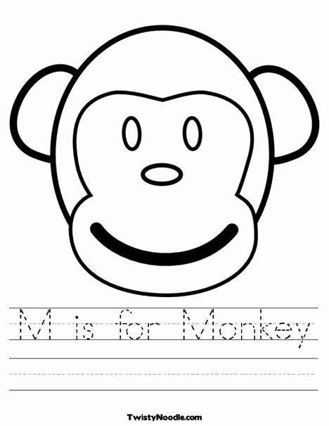 Monkey Worksheets for Preschoolers Unique M is for Monkey Worksheet