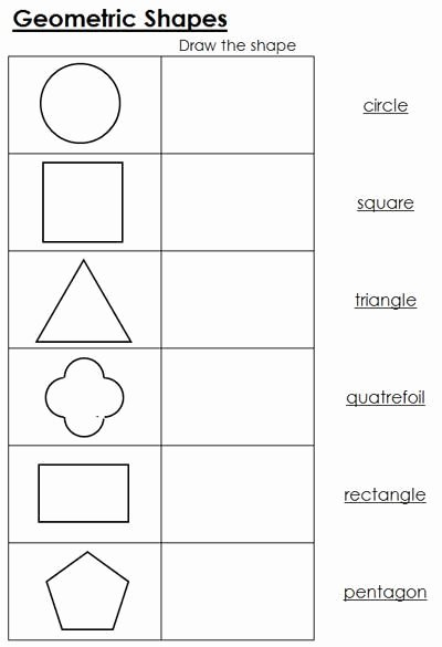 Montessori Worksheets for Preschoolers Unique Geometric Shapes Worksheets