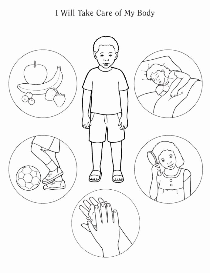 My Body Worksheets for Preschoolers Beautiful Human Body Coloring Preschool Healthy Habits for