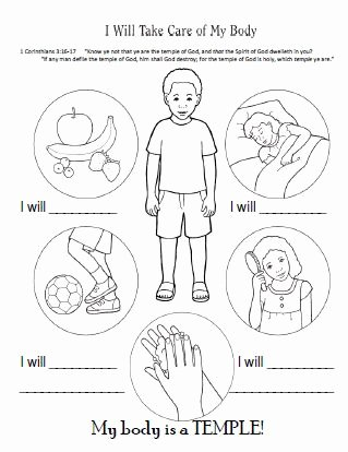 My Body Worksheets for Preschoolers Inspirational I Will Take Care Of My Body Worksheet