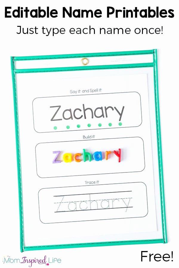Name Worksheets for Preschoolers Inspirational Free Editable Name Tracing Printable Worksheets for Name