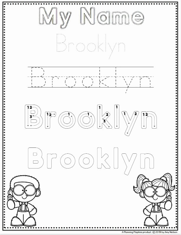 Name Worksheets for Preschoolers Unique Name Tracing Worksheets Planning Playtime
