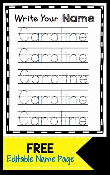 Name Writing Worksheets for Preschoolers Best Of Learn to Write Your Name Freebie — Keeping My Kiddo Busy