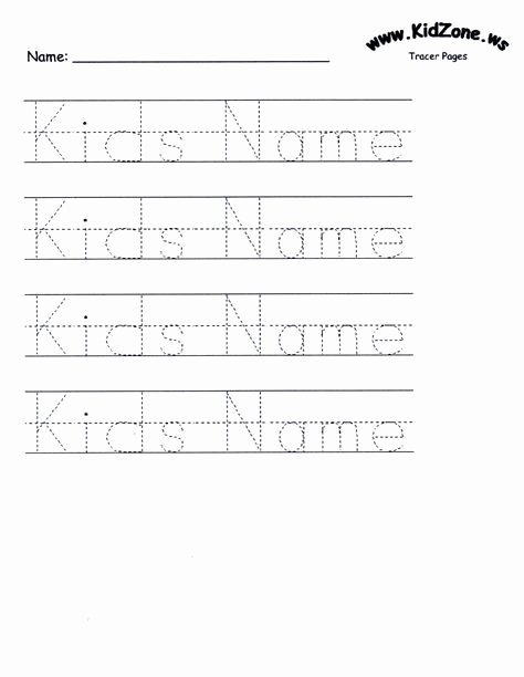 Name Writing Worksheets for Preschoolers Fresh Customizable Printable Letter Pages