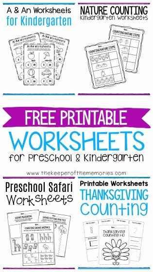 Nature Worksheets for Preschoolers Beautiful Free Printable Worksheets for Preschool & Kindergarten the