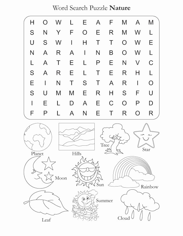 Nature Worksheets for Preschoolers Fresh Nature Worksheets In
