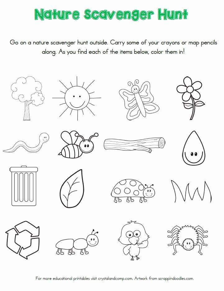 Nature Worksheets for Preschoolers New Nature Scavenger Hunt Printables for Kids