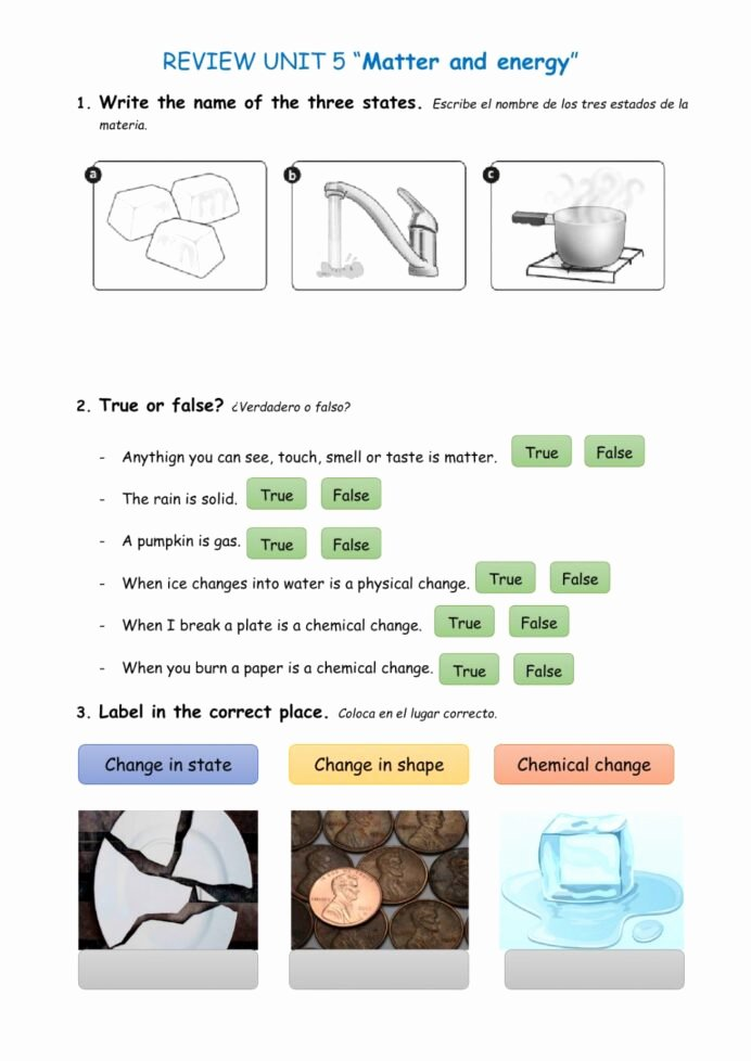 Nature Worksheets for Preschoolers top Natural Science Matter and Energy Interactive Worksheet