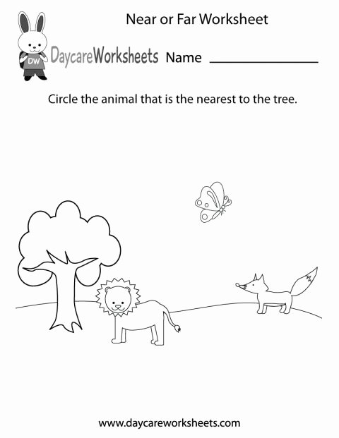 Near and Far Worksheets for Preschoolers Best Of 9 Next to Kindergarten Worksheet Check More at S