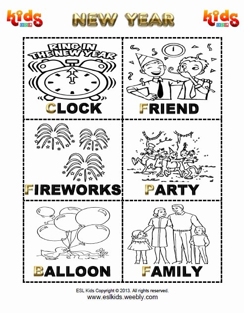 New Year Worksheets for Preschoolers Beautiful New Years Activities Games and Worksheets for Kids Year