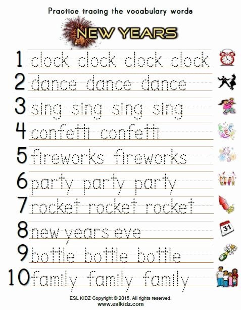 New Year Worksheets for Preschoolers Best Of New Years Activities Games and Worksheets for Kids Year