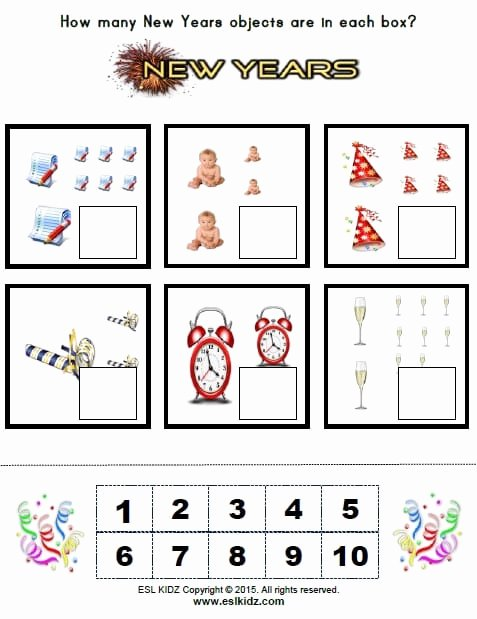 New Year Worksheets for Preschoolers Inspirational New Years Activities Games and Worksheets for Kids