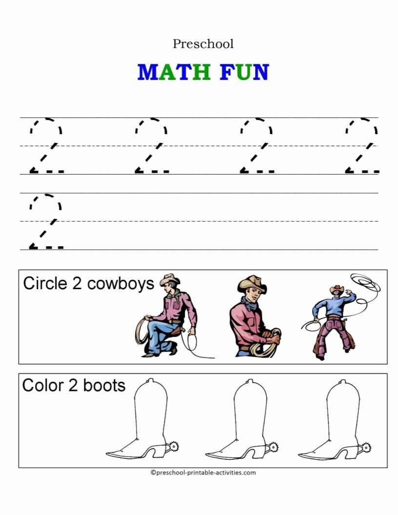 Number 1 and 2 Worksheets for Preschoolers Lovely Math Worksheet Awesome Maths for Preschoolers Printables