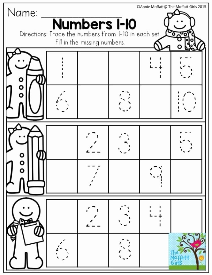 Number 10 Worksheets for Preschoolers Best Of December Fun Filled Learning with No Prep Numbers Preschool
