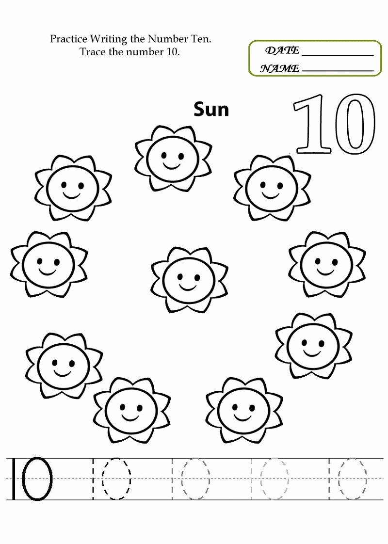 Number 10 Worksheets for Preschoolers Best Of Number 10 Worksheets to Print