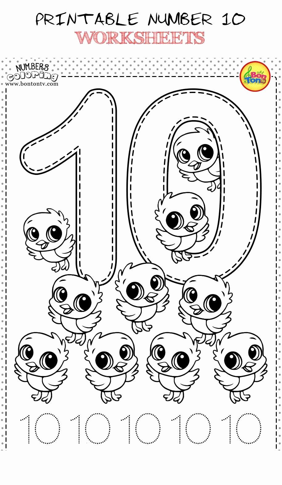 Number 10 Worksheets for Preschoolers Fresh Printable Number 10 Worksheets 5 Kids Fun Worksheets