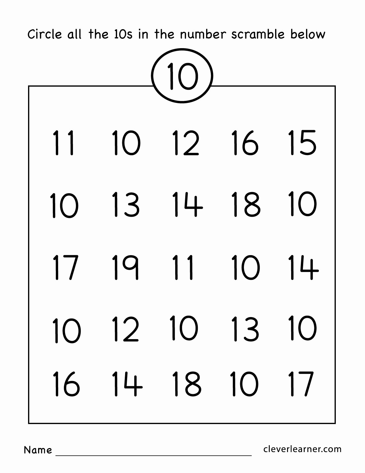 Number 10 Worksheets for Preschoolers Inspirational Number Ten Writing Counting and Identification Printable