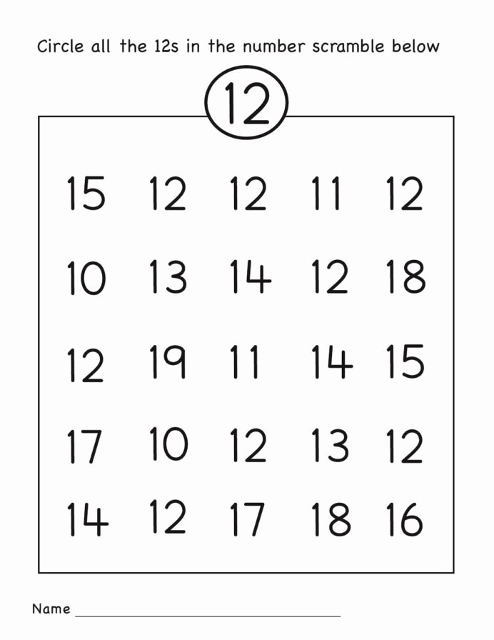 Number 19 Worksheets for Preschoolers Inspirational Number Worksheets Easy Numbers Preschool for Grade Equations