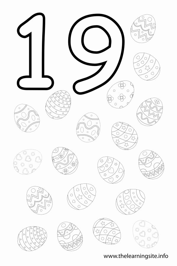 Number 19 Worksheets for Preschoolers Unique Number Nineteens 19 Coloring Pages
