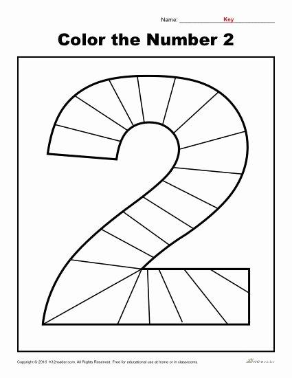 Number 2 Worksheets for Preschoolers Fresh Color the Number Preschool Worksheet Worksheets for 2nd