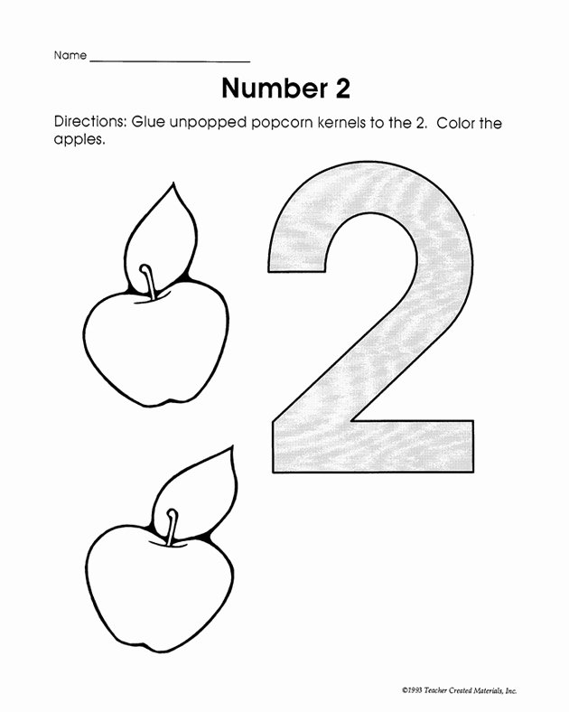 Number 2 Worksheets for Preschoolers Fresh Number 2 Worksheets