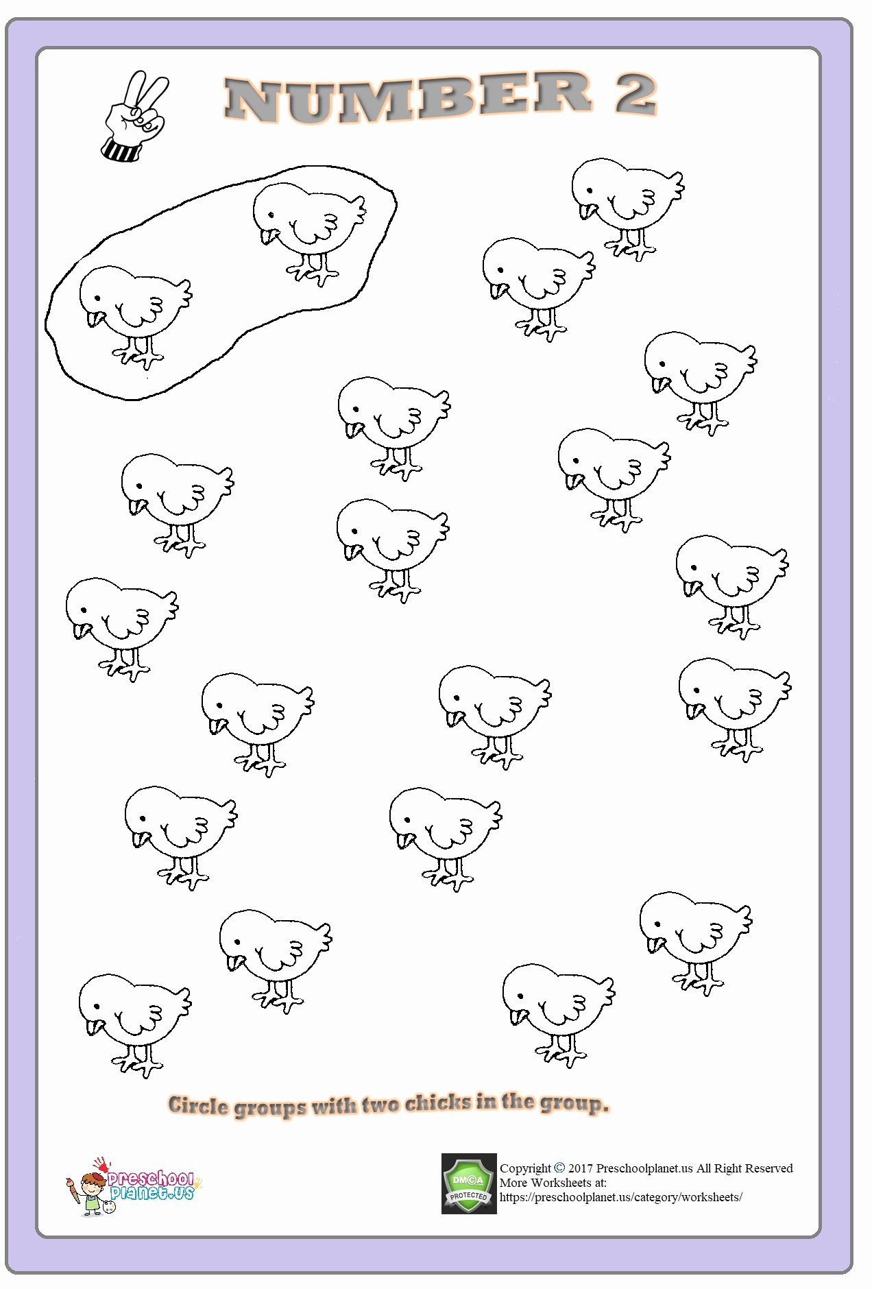 Number 2 Worksheets for Preschoolers top Number 2 Worksheets for Kindergarten – Preschoolplanet