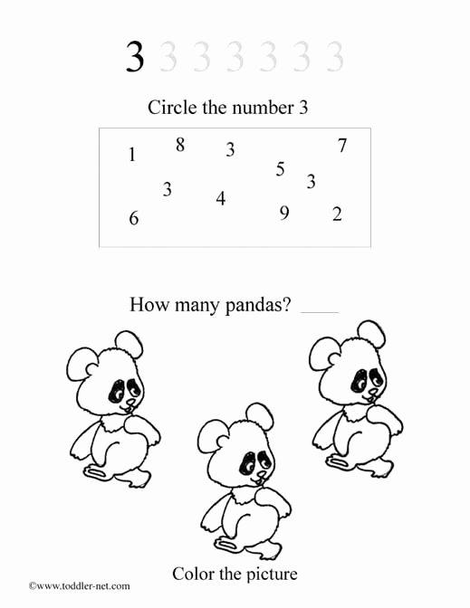 Number 3 Worksheets for Preschoolers Awesome Free Number 3 Worksheet