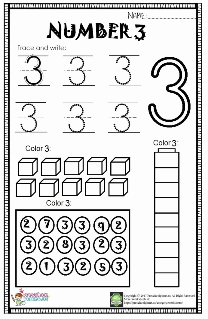 Number 3 Worksheets for Preschoolers Fresh Worksheet Kindergarten Worksheets Fun Reading Prehension