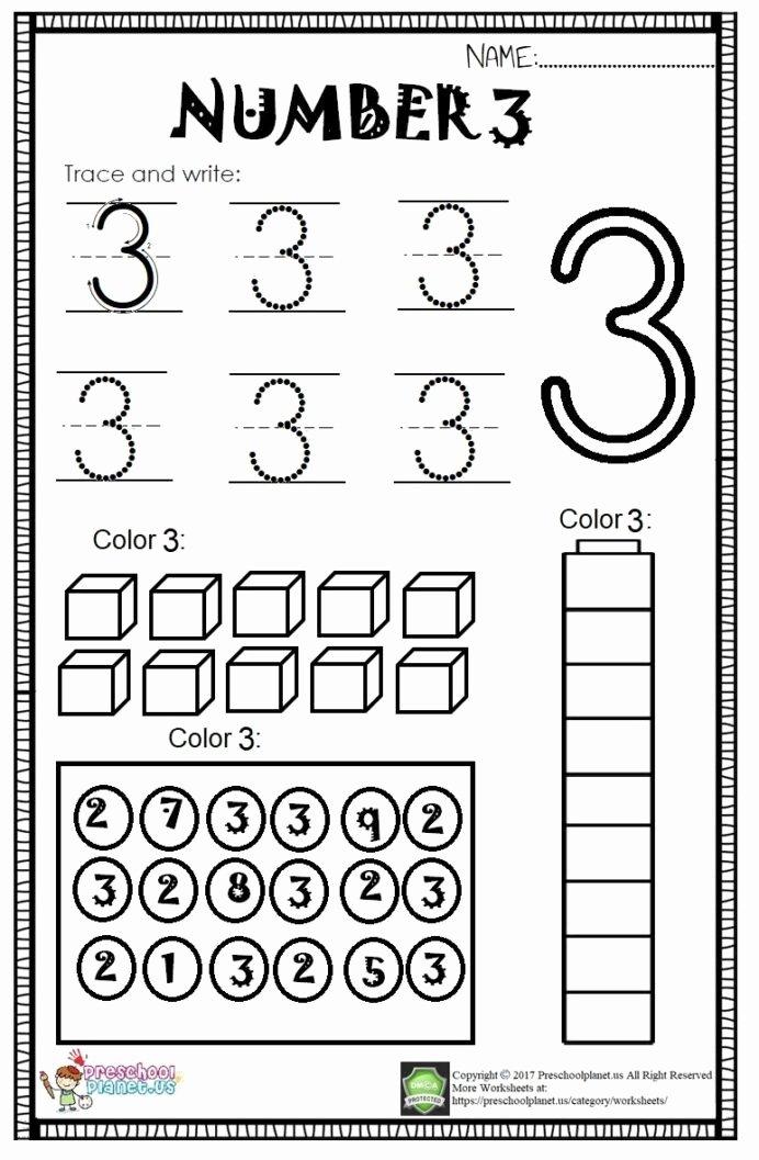 Number 3 Worksheets for Preschoolers Fresh Worksheet Kindergarten Worksheets Fun Reading Prehension