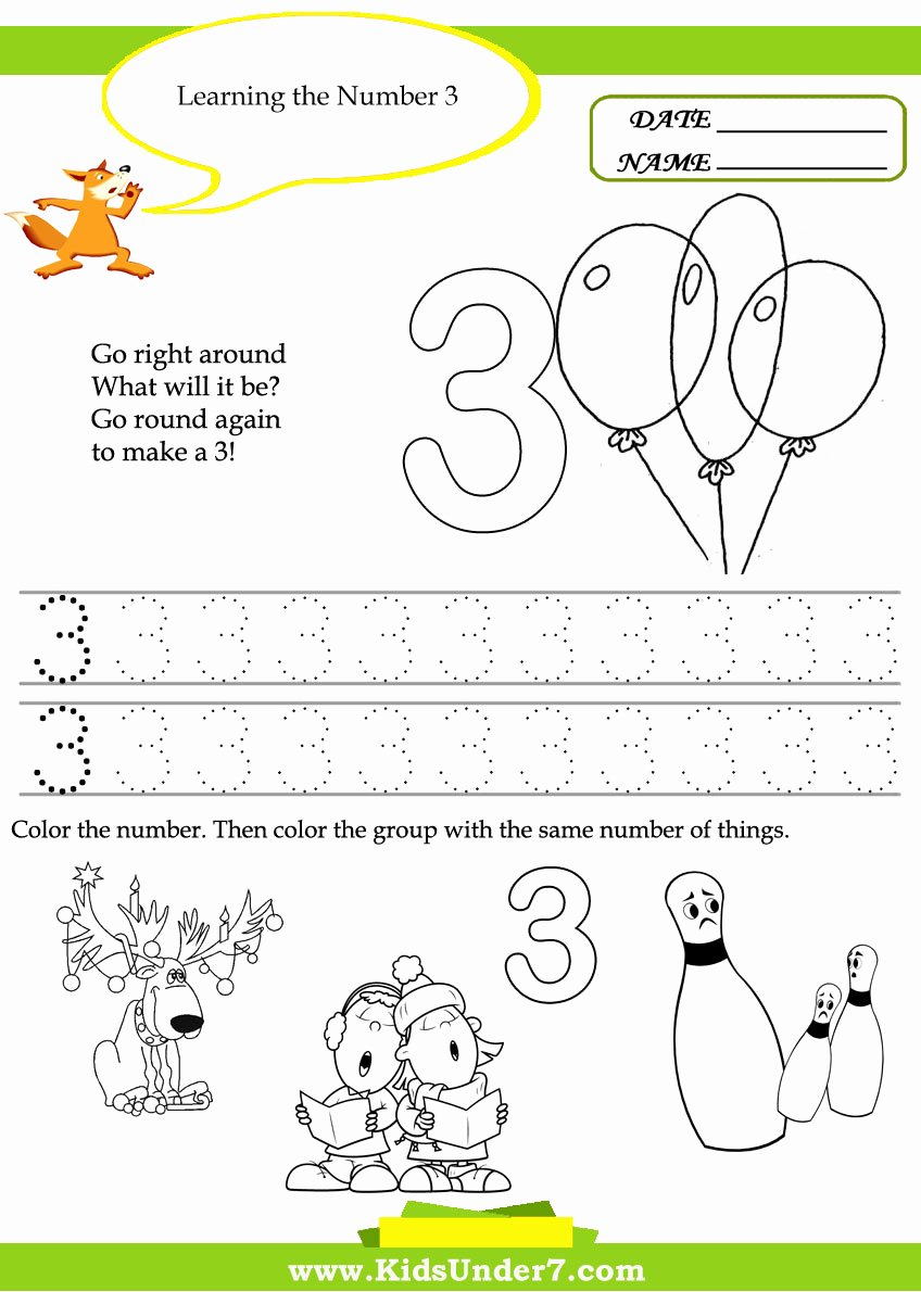 Number 3 Worksheets for Preschoolers Inspirational Worksheet Kindergarten Printable Worksheets Worksheet Kids
